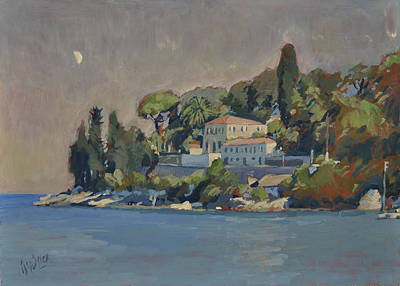 Painting - The Mansion House Paxos by Nop Briex