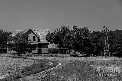 Photograph - The Mansion On Road X In Bw by Kathy McClure