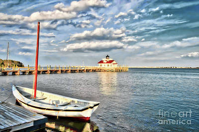 The Manteo Waterfront Art Print by Mel Steinhauer