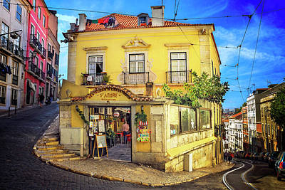 The Many Colors Of Lisbon Old Town  Art Print