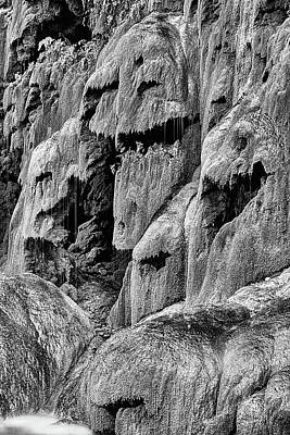 Photograph - The Many Faces Of Gorman Falls Black And White by JC Findley