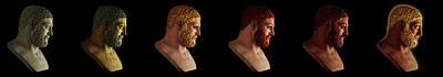 The Many Faces Of Hercules Art Print