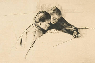 Relief - The Map by Mary Cassatt