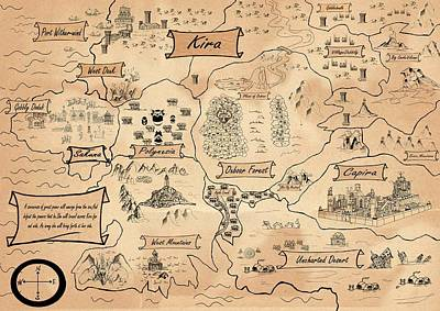 The Map Of The Enchanted Kira Original by Reynold Jay