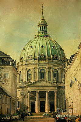 Photograph - The Marble Church In Copenhagen by Kira Bodensted