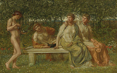 Classical Nude Painting - The Marble Seat by Albert Joseph Moore