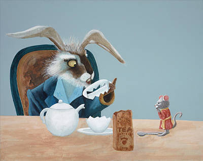 March Hare Painting - The March Hare by Joe Odonovan