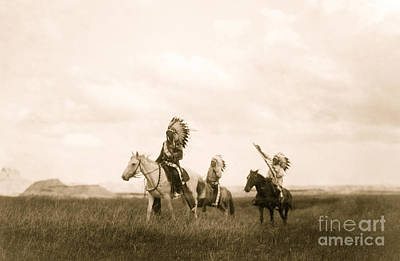 Photograph - The March Of The Sioux by American School