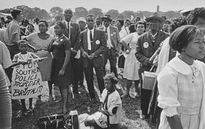 Equal Photograph - The March On Washington  Washington Monument Grounds by Nat Herz