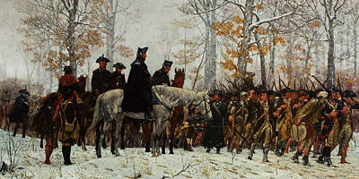 Cavalier Wall Art - Painting - The March To Valley Forge, Dec 19, 1777 by William Trego