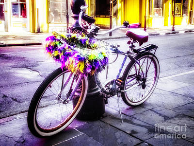 Photograph - The Mardi Gras Bike by Frances Ann Hattier
