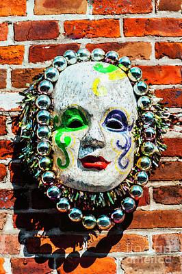 Photograph - The Mardi Gras Mask by Frances Ann Hattier