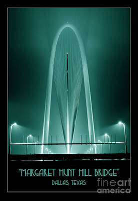 Photograph - The Margaret Hunt Hill Bridge In Aqua by Imagery by Charly