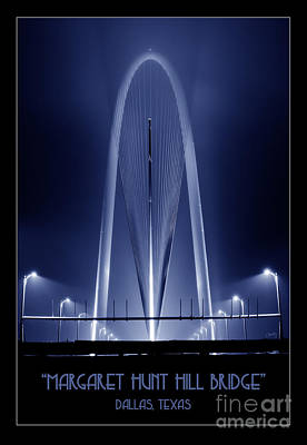 Photograph - The Margaret Hunt Hill Bridge In Blue by Imagery by Charly
