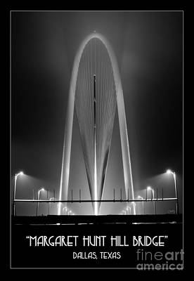 Photograph - The Margaret Hunt Hill Bridge In Bw by Imagery by Charly