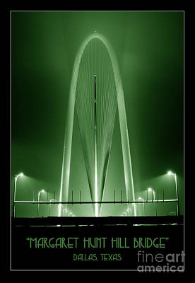 Photograph - The Margaret Hunt Hill Bridge In Green by Imagery by Charly