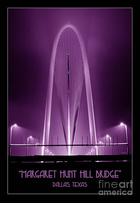 Photograph - The Margaret Hunt Hill Bridge In Purple by Imagery by Charly