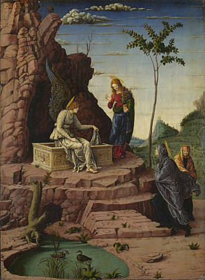 Sepulchre Digital Art - The Maries At The Sepulchre by Imitator of Andrea Mantegna