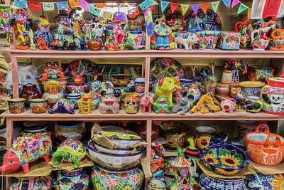 Photograph - The Market - Ceramic Souvenirs - Series 2/4 by Patti Deters