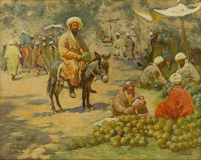 Tbilisi Painting - The Market by Gigo Gabashvili