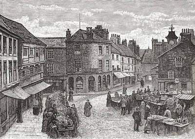 The Market Place And Old Town Hall Art Print