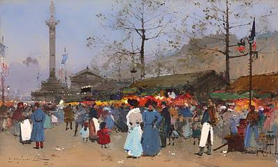 The Market Place - Paris Art Print