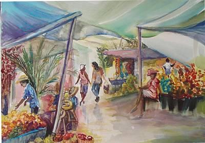 The Market Art Print by Shelley Capovilla