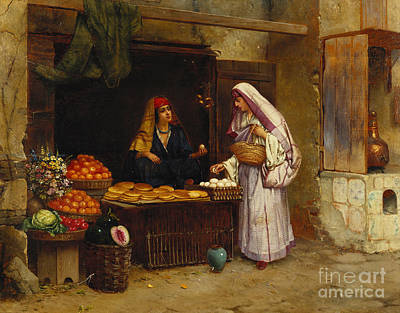 Marrakesh Painting - The Market Stall by Rudolphe Ernst