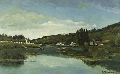 The Marne At Chennevieres Art Print by Camille Pissarro