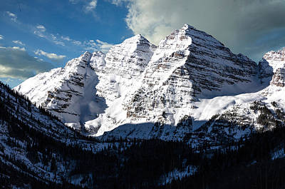 Photograph - These Twin Peaks Outside Aspen Are Called The Maroon Bells  by Carol M Highsmith