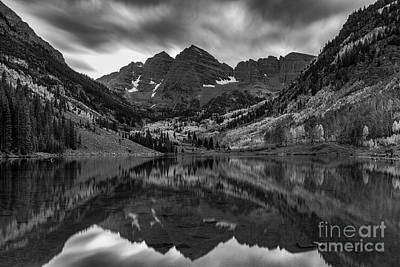 Photograph - The Maroon Bells by Bitter Buffalo Photography