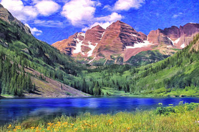 The Maroon Bells Art Print by Dominic Piperata