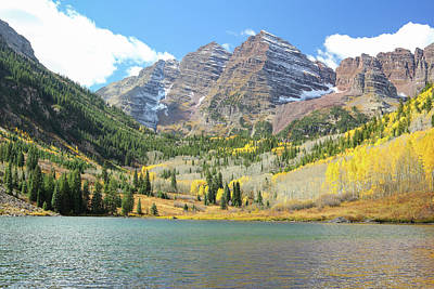 The Maroon Bells 1 Art Print by Eric Glaser