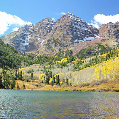 The Maroon Bells 2 Art Print by Eric Glaser