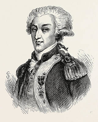The Marquis De Lafayette Art Print