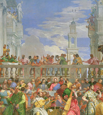 Meal Painting - The Marriage Feast At Cana by Veronese
