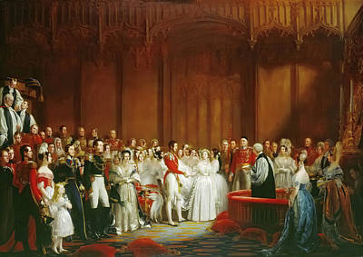 Victoria Painting - The Marriage Of Queen Victoria 10 February 1840 by George Hayter