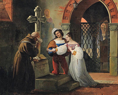 The Marriage Of Romeo And Juliet  Art Print by Francesco Hayez