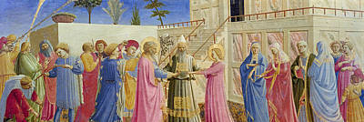 Tempera Painting - The Marriage Of The Virgin by Fra Angelico
