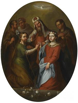 The Marriage Of The Virgin Art Print