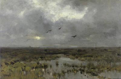 Vegetation Painting - The Marsh by Anton Mauve