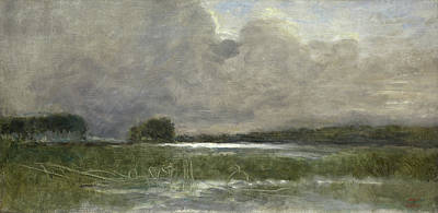 Marine Painting - The Marsh At Arleux by Camille Corot