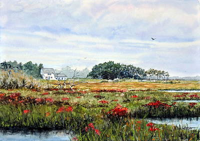 Painting - The Marsh In Bloom by Bill Hudson
