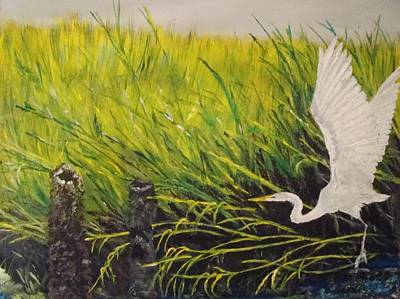 Painting - The Marsh by Yvonne Breen