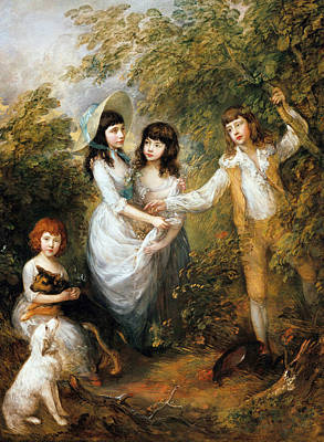 Painting - The Marsham Children by Thomas Gainsborough