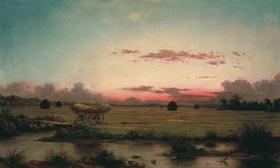 Famous Fish Abstract Painting - The Marshes At Rhode Island by Martin Johnson Heade