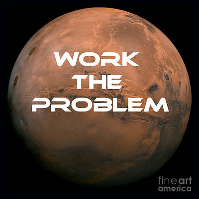 Outer Space Photograph - The Martian Work The Problem by Edward Fielding