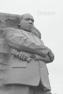 Photograph - The Martin Luther King Jr Memorial by E B Schmidt