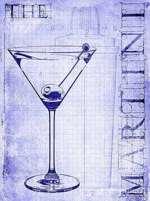 Martini Photograph - The Martini Blueprint by Jon Neidert
