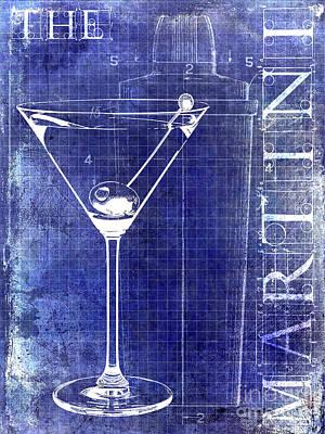 Martini Photograph - The Martini Patent Blue by Jon Neidert